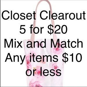 75% of my Closet is $10 or less!!!  5 For $20